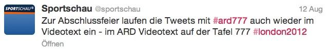 Tweet von der ARD-Sportschau