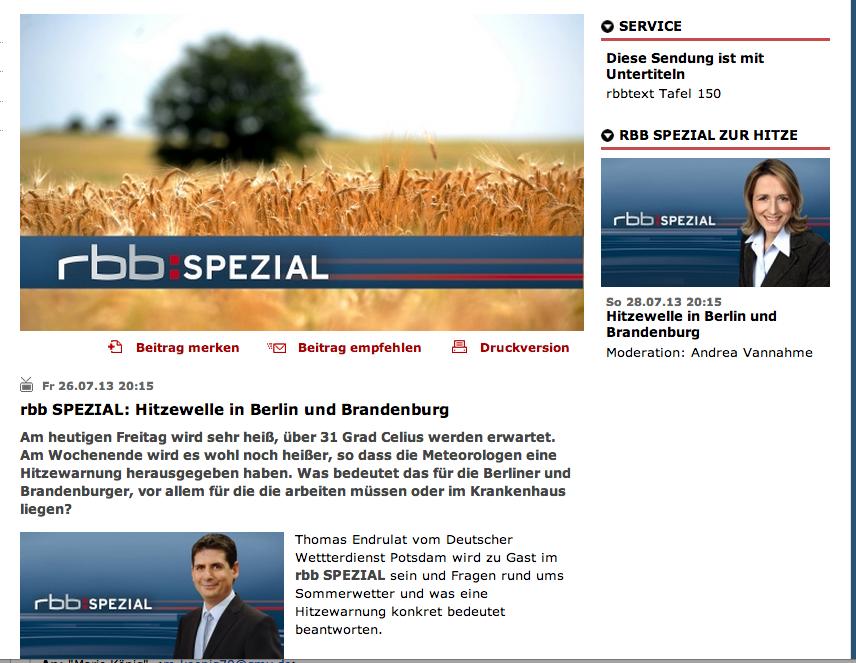 Screenshot RBB Spezial