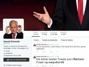 Twitter-Account von @BonitoTV - so heißt die Produktionsfirma von Harald Schmidt